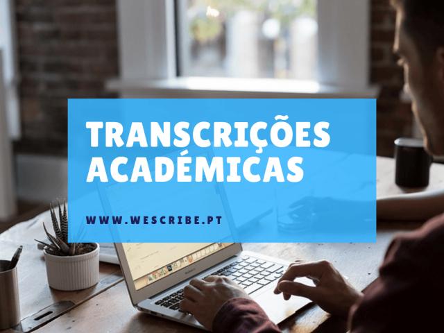 transcrições académicas